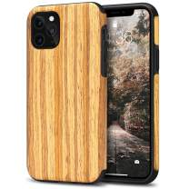 Tasikar Compatible with iPhone 11 Pro Max Case Easy Grip Wood Grain Design Compatible with iPhone 11 Pro Max (Teak)