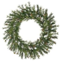 Vickerman Mixed Country Pine Wreath-Unlit, 48-Inch, Green
