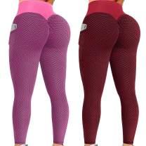 chencong 2 Pack TIK Tok Leggings with Pockets, Leggings for Women Butt Lift,Women's Workout Fitness Sports Running Yoga Pants
