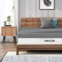 Mecor 3 Inch Twin Bamboo Charcoal Infused Memory Foam Mattress Topper, Single Size Bed Mattress Pad, CertiPUR-US Certified & Ventilated Foam Topper for Bed, Gray