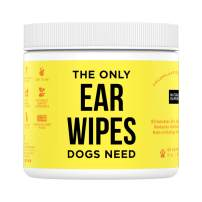 Natural Rapport Title Dog Ear Cleaner Ear Cleaner Solution for Cleaning Out Wax, Dirt, and Contaminants (Wipes & Drops)