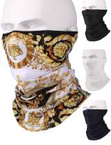 Balaclava Face Mask Bandanas Cooling Towels for Neck 4 Pack Gaiter Headbands Face Covering Buff Headwear Tube Face Mask
