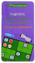 The Purple Cow Magnetic Travel Sudoku Shapes Game - Car Games , Airplane Games and Quiet Games