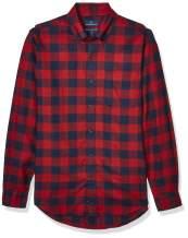 Amazon Brand - Buttoned Down Men's Tailored Fit Supima Cotton Plaid Flannel Sport Shirt