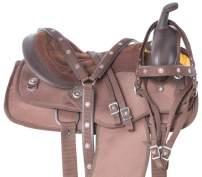 Acerugs Texas Silver Western Pleasure Trail Show Horse Barrel Saddle TACK Set Comfy