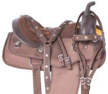 Acerugs Texas Star Silver Western Pleasure Trail Show Barrel Horse Saddle TACK Set Comfy