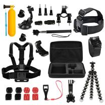 GPCT 26-in-1 Mount Accessory Kit for GoPro Hero 1/2/3/3+/4/5 Camera (Go Pro Filming Essentials for Quality Video Recording, Includes Carrying Case, Head Mount, Tripod, Arm, Handlebar Mount, and More)