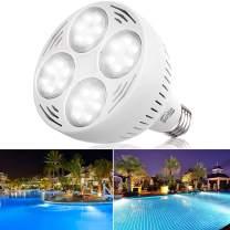 Bonbo 12V 50W 6500k LED Pool Bulb White Light, Daylight Swimming Pool LED Light Bulb E26 Base 300-600w Traditional Bulb Compatible for Most Pentair Hayward Light Fixture