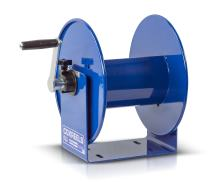 "Coxreels 112Y Series Challenger Cord Storage Reel, Model# 112Y-4,Blue,3/8"""