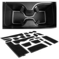 CupHolderHero for Honda CR-V Accessories 2012-2014 Premium Custom Interior Non-Slip Anti Dust Cup Holder Inserts, Center Console Liner Mats, Door Pocket Liners 18-pc Set (White Trim)