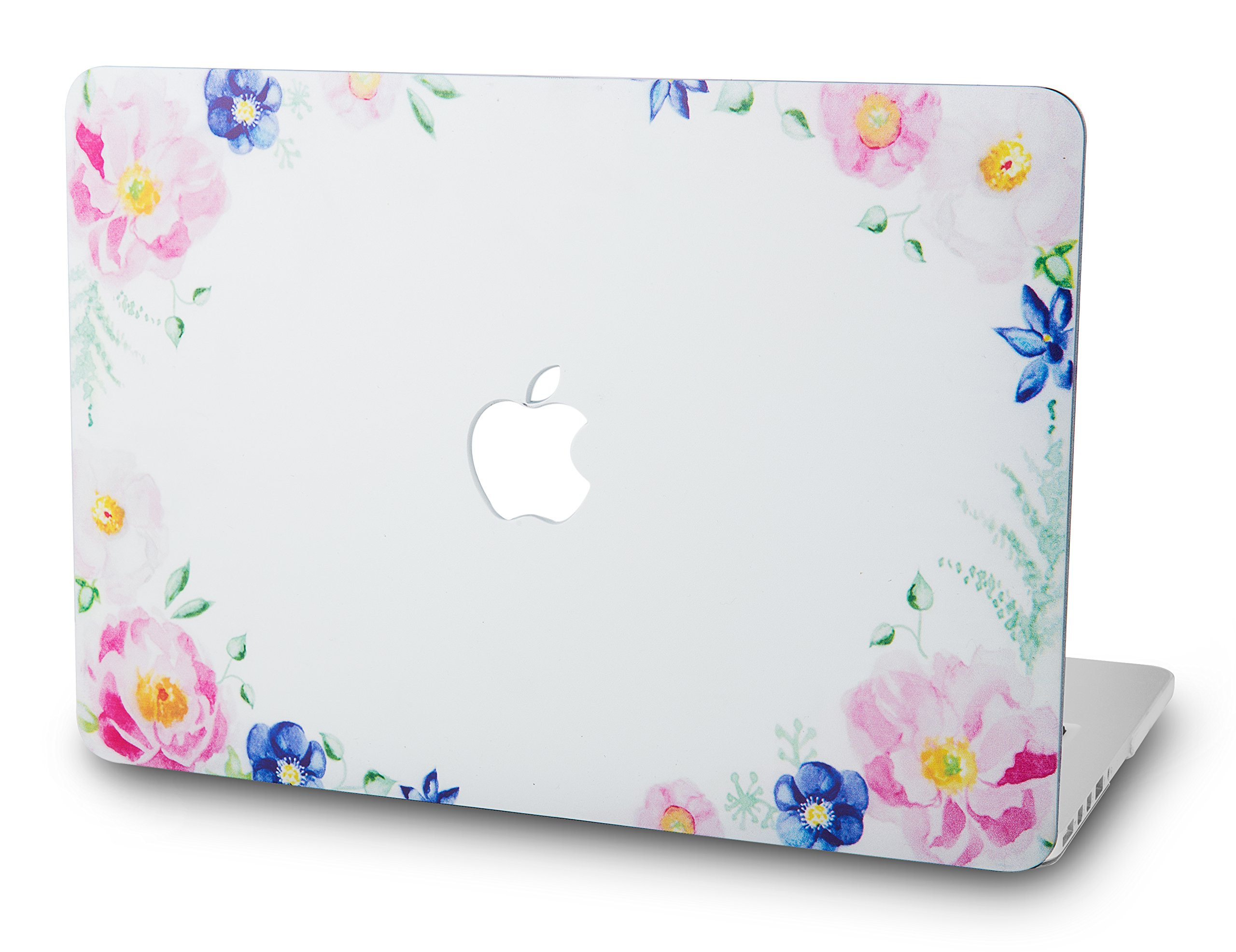 KECC Laptop Case for MacBook Air 13 Inch Plastic Case Hard Shell Cover A1466/A1369 (Flower 4)