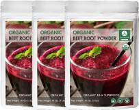 Organic Beet Root Powder, 3 lbs (3 Packs of 1lb Each) by Naturevibe Botanicals, Raw & Non-GMO   Nitric Oxide Booster   Boost Stamina and Increases Energy