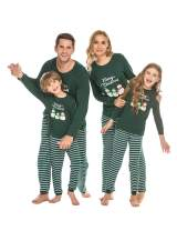 Ekouaer Matching Family Pajamas Set Christmas Pjs Long Sleeve Holiday Sleepwear