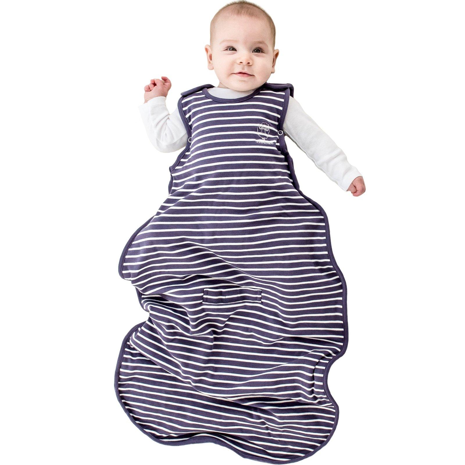 Woolino 4 Season Toddler Sleep Sack, Merino Wool Baby Sleeping Bag, 2-4 Years, Violet