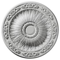 """Ekena Millwork CM20LU Lunel Ceiling Medallion, 20 1/4""""OD x 1 1/2""""P (Fits Canopies up to 3 3/4""""), Factory Primed"""