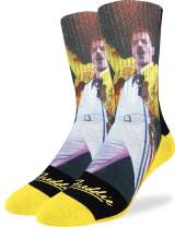 Good Luck Sock Men's Freddie Mercury, Wembley Socks - Adult Shoe Size 8-13