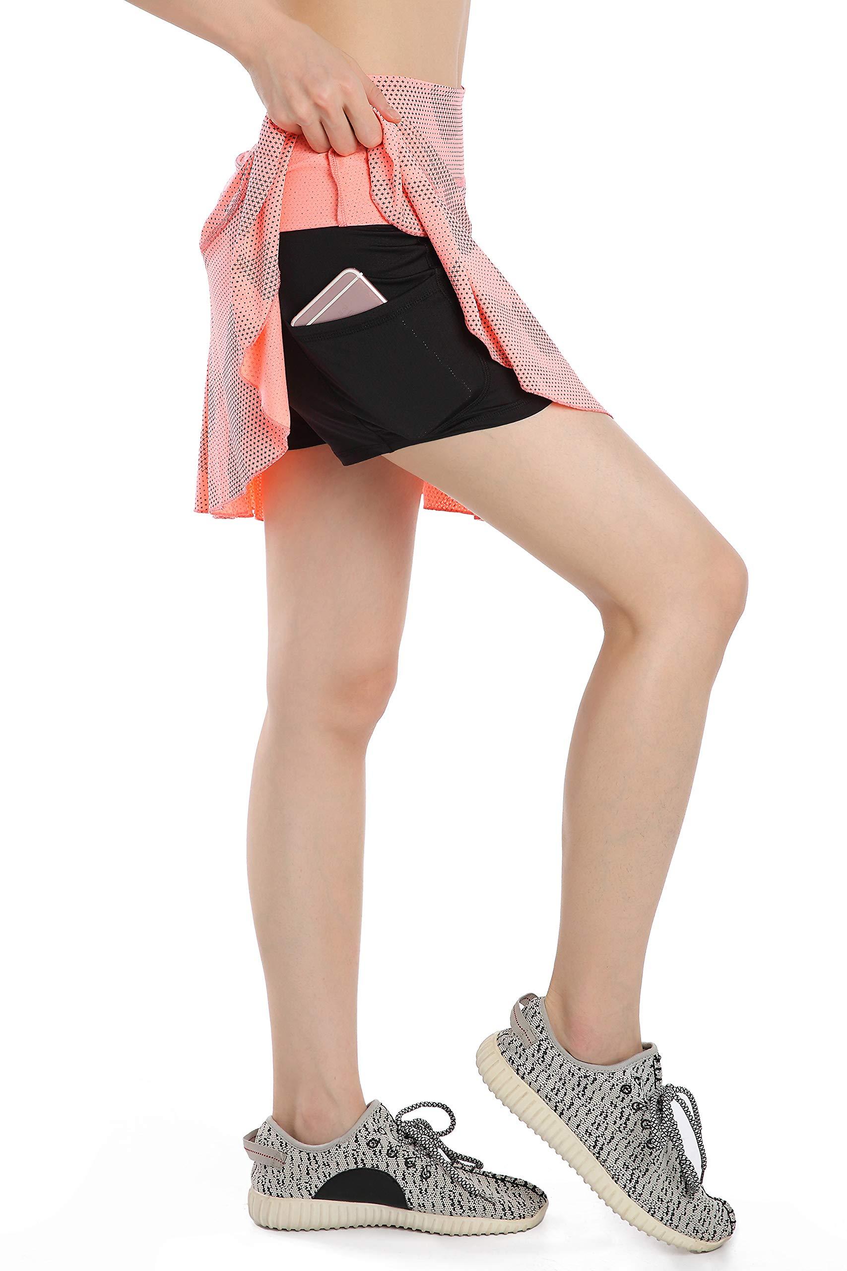 Annjoli Womens Running Golf Skorts Tennis Workout Skirt