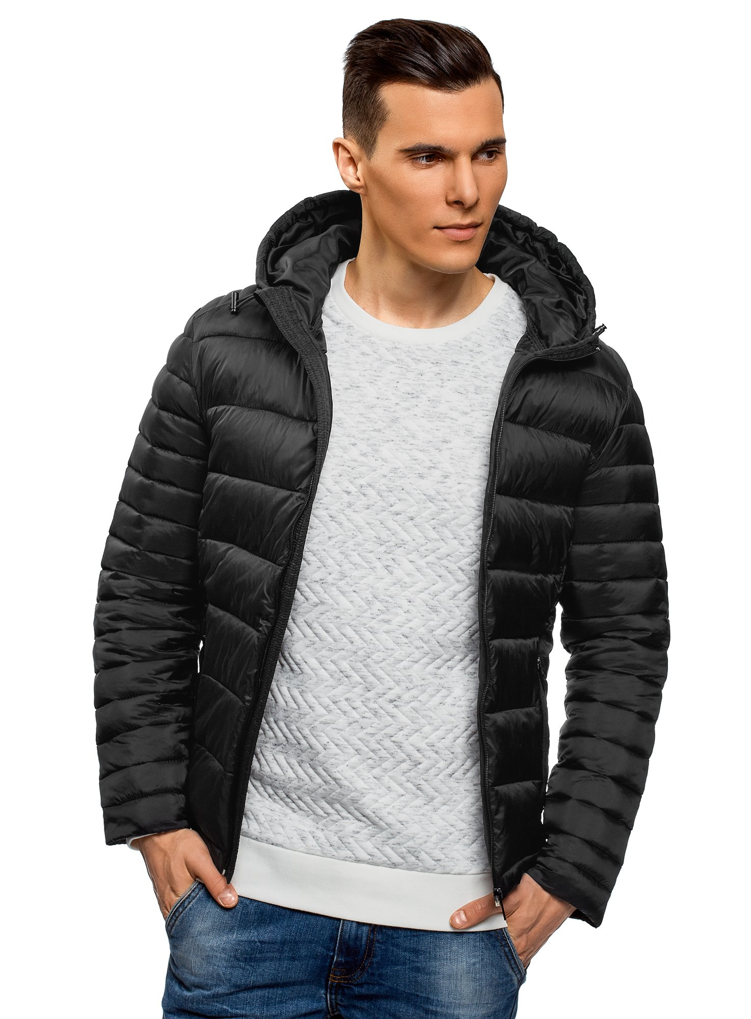 oodji Ultra Men's Basic Hooded Jacket