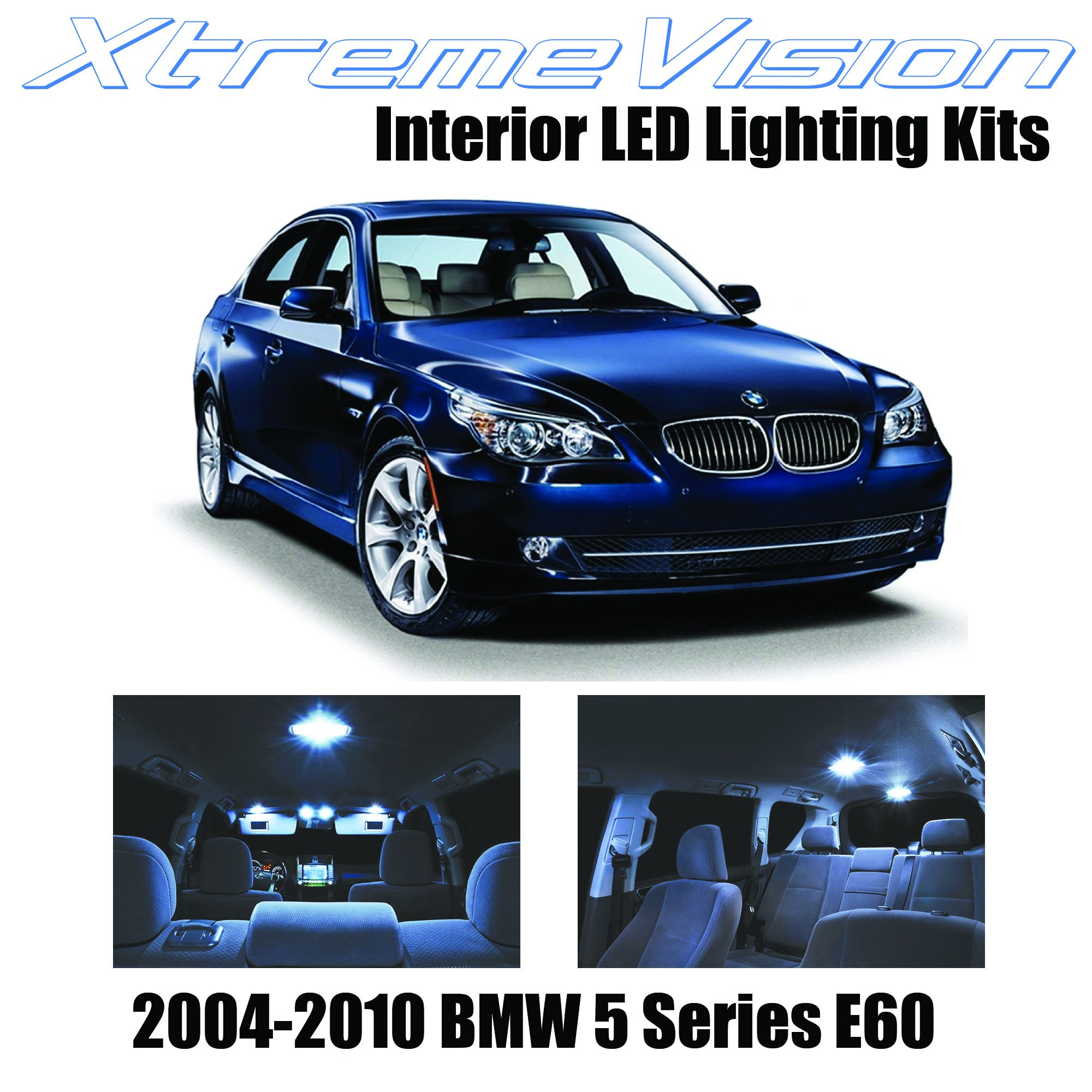 Xtremevision Interior LED for BMW 5 Series E60 2004-2010 (17 Pieces) Cool White Interior LED Kit + Installation Tool