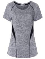 MISS FORTUNE Womens Yoga Tops Exercise Shirts Workout Clothes