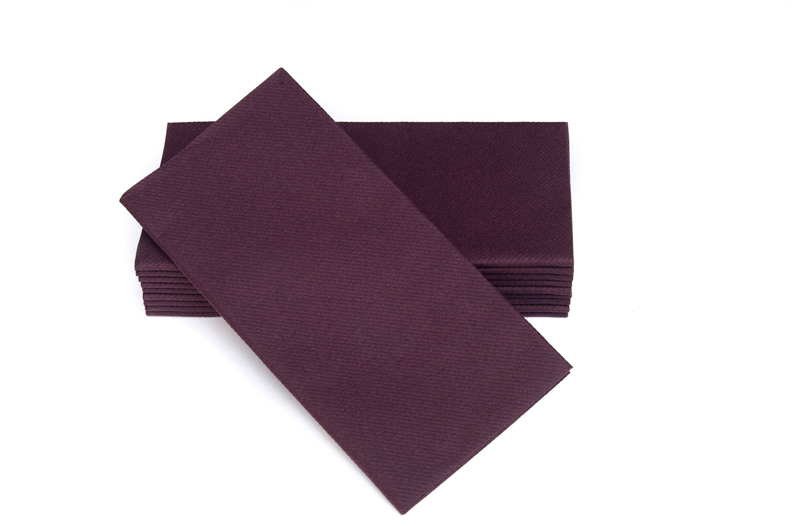 """Simulinen Colored Napkins - Decorative Cloth Like & Disposable, Dinner Napkins - Plum - Soft, Absorbent & Durable - 16""""x16"""" - Great for Any Occasion! - Box of 50"""