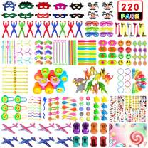 Party Prize,Party Favor for Kids Toy Assortment, ZOYJITU 220PCS Treasure Box Prizes for Classroom,Birthday Party, Kids Birthday Party Favors for Goodie Bag Fillers, Assorted Pinata Fillers