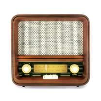 Fuse Vintage Retro Bluetooth AM/FM Radio Speaker + Real Handcrafted Wood Exterior - (RAD-V1)
