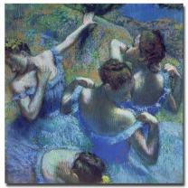 Blue Dancers 1899 by Edgar Degas, 18x18-Inch Canvas Wall Art