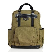 TWELVElittle Unisex Courage Backpack Diaper Bag, Olive
