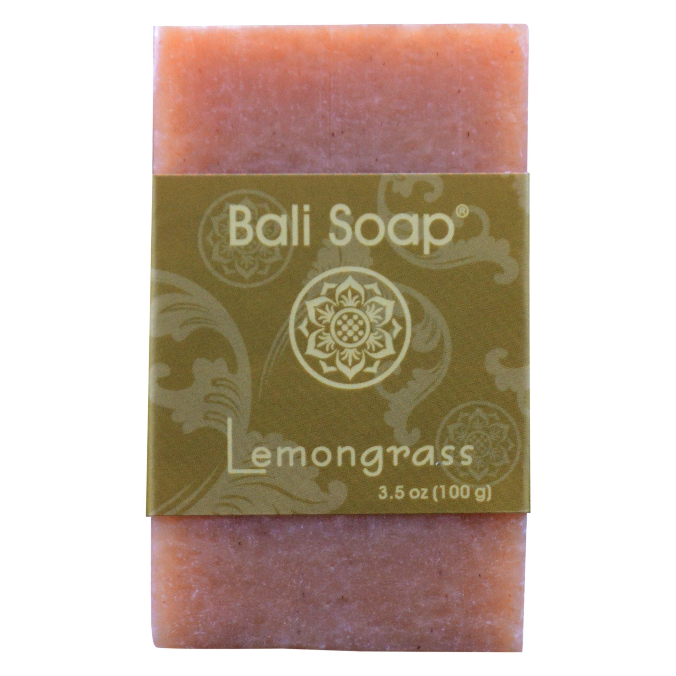 Bali Soap - Lemongrass Natural Soap Bar, Face or Body Soap, Best for All Skin Types, For Women, Men & Teens, Pack of 6, 3.5 Oz each