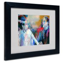 Frankenstein Artwork by Richard Wallich, 11 by 14-Inch, Black Frame