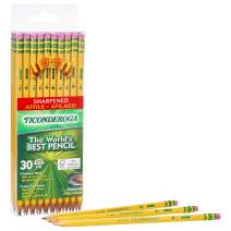 TICONDEROGA Pencils, Wood-Cased #2 HB Soft, Pre-Sharpened with Eraser, Yellow, 6-Pack/ 180 count (13806)