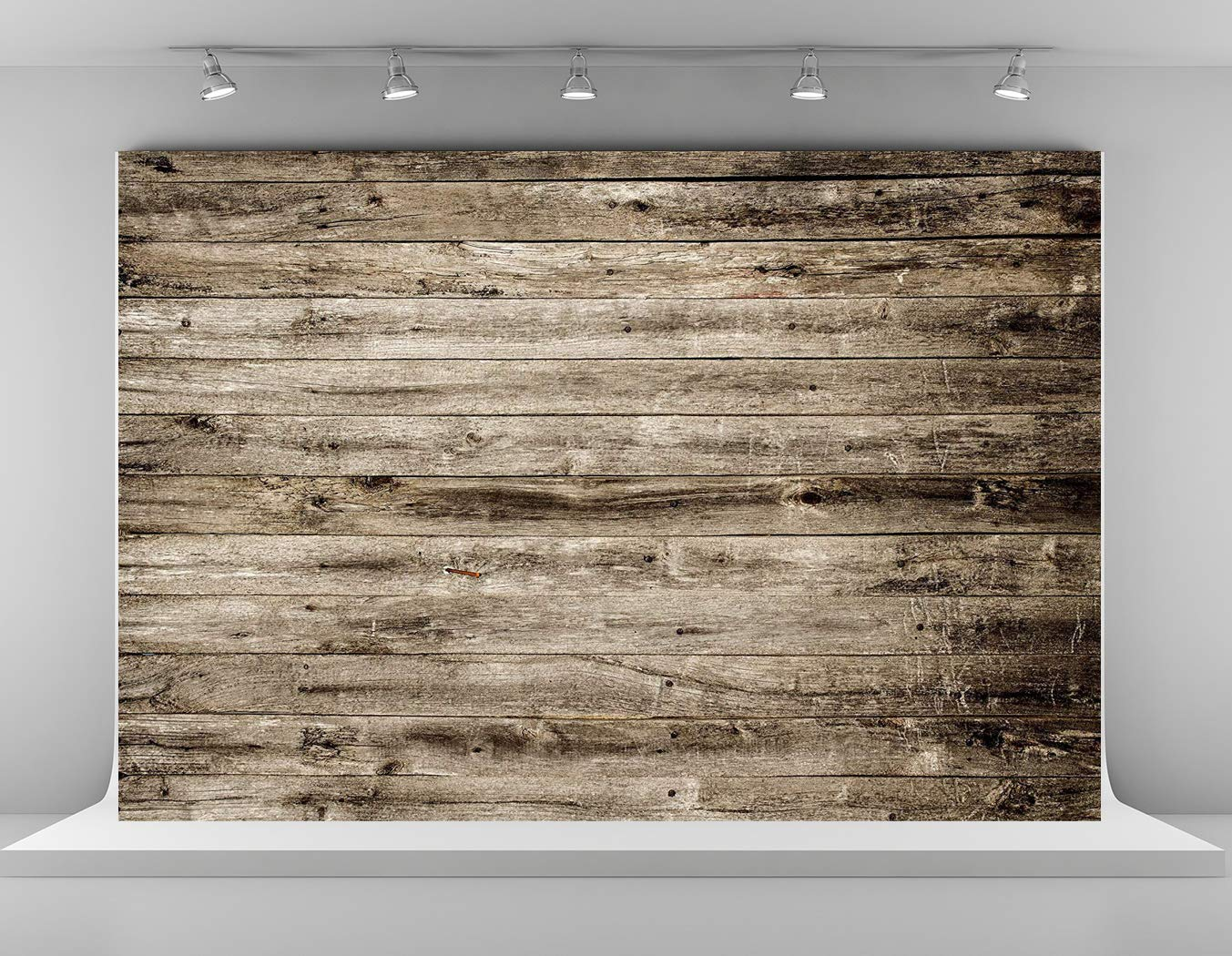 Kate 7x5ft Microfiber Rustic Wood Texture Backdrops for Photoshoot Vintage Wooden Wall Photo Background Adults Kids Portrait Backdrop Props