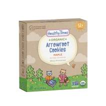 Healthy Times Organic Arrowroot Cookies for Kids, Maple | For Toddlers 12 Months and Older | 5 oz Box, 1 Count