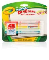 Crayola Dry Erase Markers, Fine Line, Classroom & School Supplies