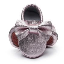HONGTEYA Leather Baby Moccasins Hard Soled Tassel Crib Toddler Shoes for Boys and Girls