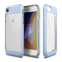iPhone 8 Case, Patchworks [Contour Series] Hybrid Smudge-Free Clear Inner TPU Hard Matte Finish PC Frame Cover Military Grade Drop Tested Case [Wireless Charging] for iPhone 8 iPhone 7 - Blue