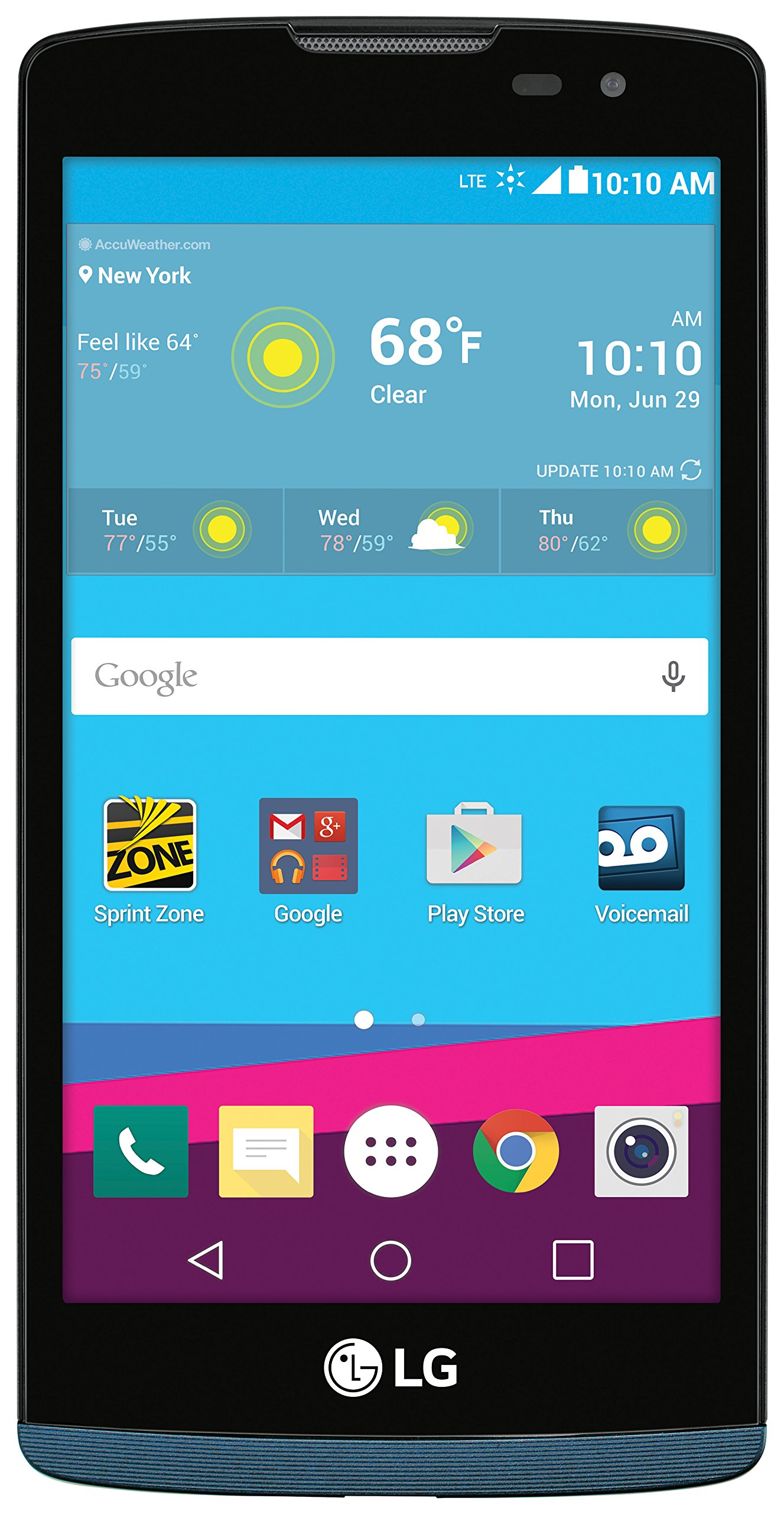 LG LGLS665ASB Tribute Duo with Android 5.1 and Qualcomm Snapdragon 410 Processor, No Contract, Sprint Prepaid Phone