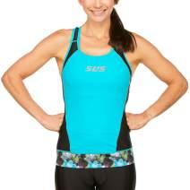 SLS3 Tri Top Women   Womens Triathlon Top   Triathlon Tops Women   Anti-Friction Seams   Slim Athletic Fit (No Shelf Bra)