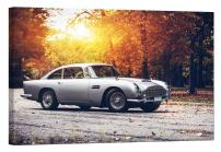 LightFairy Glow in The Dark Canvas Painting - Stretched and Framed Giclee Wall Art Print - Aston Martin Db5 - Master Bedroom Living Room Decor - 6 Hours Glow - 46 x 32 inch