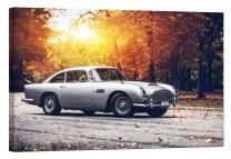LightFairy Glow in The Dark Canvas Painting - Stretched and Framed Giclee Wall Art Print - Aston Martin Db5 - Master Bedroom Living Room Decor - 6 Hours Glow - 36 x 24 inch