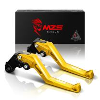 MZS Adjustment Levers Brake Clutch CNC Compatible with KTM Duke 390 RC390 2013-2019| Duke 125 RC125 2014-2019| Duke 200 RC200 2014-2019 Gold