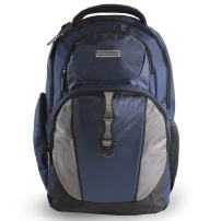 Perry Ellis Men's P19 Business Laptop Backpack with Tablet Pocket, Navy, One Size