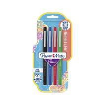 Paper Mate Flair Felt Tip Pens, Medium Point (0.7mm), Business Colors, 4 Count - 8404452PP