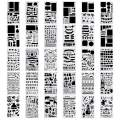 30 Pcs Stencils Plastic Planner Template Journal for DIY Drawing-4x7inch