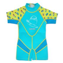 Cheekaaboo Kiddies Toddler Kids UPF50 Sun Protection Thermal Swimsuit, Age 2-3, Light Blue/Camper Van