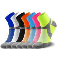 Compression Socks for Women and Men (3 Pairs) Sport Plantar Fasciitis Arch Support Low Cut Running Gym Compression Foot
