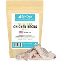 Raw Paws Freeze Dried Chicken Necks for Dogs & Cats - Made in USA, Human Grade, USDA Certified - Raw Freeze Dried Dog Treats - Raw Chicken Necks for Cats - Hormone-Free Real Chicken Cat Treats