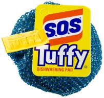 S.O.S Tuffy Dishwashing Pad, 1 Count (Pack of 24) (Colors May Vary)