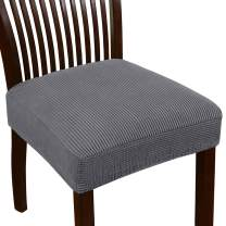 Turquoize Seat Covers for Dining Room Chairs Dining Chair Seat Cover Jacquard Dining Chair Covers Set of 2 Kitchen Chair Covers Removable Chair Seat Cushion Slipcovers for Dining Room (2 Pack, Gray)